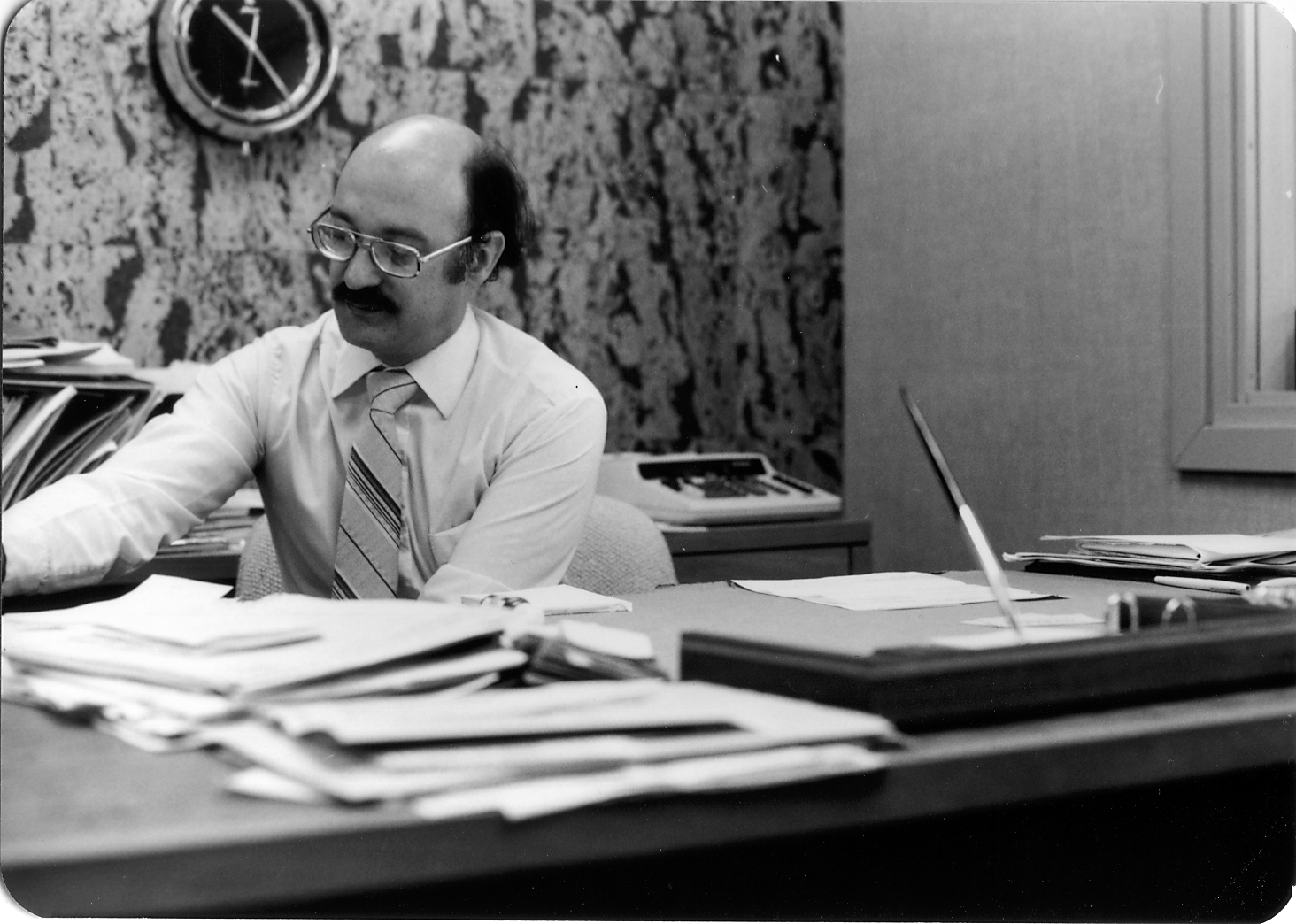 70s Jerry Weitzman At Desk