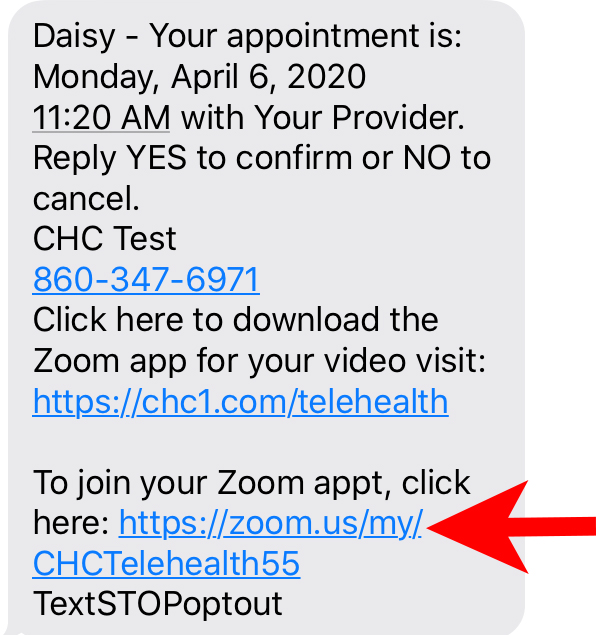Patient Text Example 4.6.2020 With Arrow